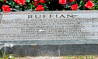 NEW YORKT, NY - JUNE 10: Ruffian's grave in the infield on June 10, 2017 in Elmont, New York.(Photo by Sue Kawczynski/Eclipse Sportswire/Getty Images)