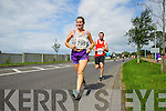 Nora Barry and \853\ pictured at the Rose of Tralee International 10k Race in Tralee on Sunday.