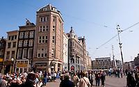 The De Dam square in Amsterdam (Holland, 17/04/2011)