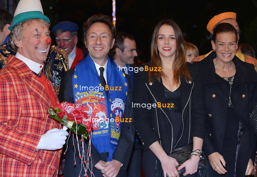 MONACO, PRINCESS STEPHANIE OF MONACO ATTENDS THE 3RD DAY OF THE 37TH CIRCUS FESTIVAL/January 2013-Monaco (MCO)-H. S. H. Princess Stéphanie of Monaco attends the third day of the Monte-Carlo Circus Festival with her daughters Pauline Ducruet, Camille Gottlieb and tv personality Stéphane Bern. January 19, 2013............