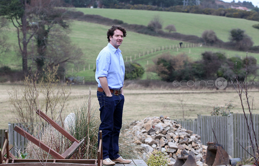 16/02/'11 Celebrity gardener, Diarmuid Gavin pictured at the back of his home (which is in the process of being renovated) in Wicklow, Ireland...Picture Colin Keegan, Collins, Dublin.