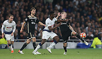 Donny van de Beer of Ajax and Tottenham Hotspur's Victor Wanyama<br /> <br /> Photographer Rob Newell/CameraSport<br /> <br /> UEFA Champions League - Tottenham Hotspur v Ajax - Tuesday 30th April 2019 - White Hart Lane - London<br />  <br /> World Copyright © 2018 CameraSport. All rights reserved. 43 Linden Ave. Countesthorpe. Leicester. England. LE8 5PG - Tel: +44 (0) 116 277 4147 - admin@camerasport.com - www.camerasport.com
