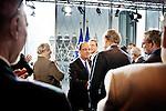 Visite de François Hollande aux nouvelles archives nationales de Pierrefitte. Lundi 11 février 2013. Photo Benjamin Géminel.