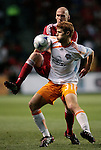 05 June 2009: Houston's Andrew Hainault (31) and Chicago's Tim Ward (behind). The Houston Dynamo defeated the Chicago Fire 1-0 at Toyota Park in Bridgeview, Illinois in a regular season Major League Soccer game.