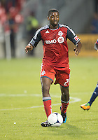 12 September 2012: Toronto FC defender Aaron Maund #21 in action during an MLS game between the Chicago Fire and Toronto FC at BMO Field in Toronto, Ontario..The Chicago Fire won 2-1..