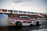 Sep 27, 2019; Madison, IL, USA; NHRA funny car driver Jack Wyatt during qualifying for the Midwest Nationals at World Wide Technology Raceway. Mandatory Credit: Mark J. Rebilas-USA TODAY Sports