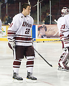 Darren Rowe (UMass - 28) - Sweden's Under-20 team played its last game on this Massachusetts tour versus the University of Massachusetts-Amherst Minutemen losing 5-1 on Saturday, November 6, 2010, at the Mullins Center in Amherst, Massachusetts.