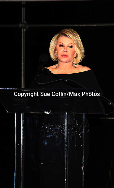 Joan Rivers (Another World) one of the hosts of the American Foundation for Suicide Prevention (AFSP) 23rd Annual Lifesavers Dinner on May 11, 2011 at the Allen Room at the Time Warner Center, New York City, New York. (Photo by Sue Coflin/Max Photos - 917-647-8403)