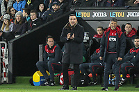 Swansea City Manaager Carlos Carvalhal during the Premier League match between Swansea City and Liverpool at the Liberty Stadium, Swansea, Wales on 22 January 2018. Photo by Mark Hawkins / PRiME Media Images.