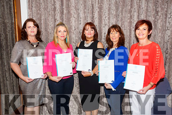 At the Kerry ETB  Graduations in the rose Hotel on Thursday were Pastry, Baking and Desserts Students l-r Annette Garland, Marie Heasman, Nora O'Sullivan, Maria Coffey, Debra Johnston