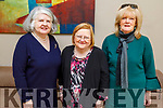 Mary Johnston, Breda Lyons and Mary McNamara attending the Women's Christmas lunch in the Ballyroe Heights Hotel on Sunday.