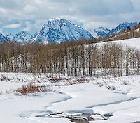 Oxbow Bend on the Snake River in Grand Teton National Park in Wyoming.