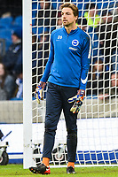 Tim Krul of Brighton & Hove Albion (26) Warms up  during the EPL - Premier League match between Brighton and Hove Albion and Burnley at the American Express Community Stadium, Brighton and Hove, England on 16 December 2017. Photo by Edward Thomas / PRiME Media Images.