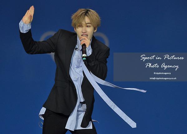 Suoer Junior D&E. K Pop concert. Pyeongchang Olympic plaza. Pyeongchang. Pyeongchang2018 winter Olympics. Republic of Korea. 24/02/2018. ~ MANDATORY CREDIT Garry Bowden/SIPPA - NO UNAUTHORISED USE - +44 7837 394578