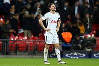 A despondent  Ben Davies of Tottenham Hotspur after Tottenham Hotspur vs Juventus, UEFA Champions League Football at Wembley Stadium on 7th March 2018