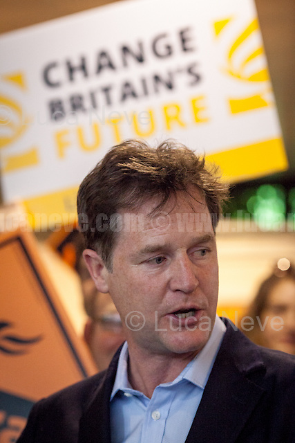 Nick Clegg (Liberal Democrats politician and Former British Deputy Prime Minister of the Coalition Government 2010-2015 - Conservative Party and Liberal Democrats).<br /> <br /> Norbiton (England), 01/06/2017. Today, Tim Farron (Leader of the Liberal Democrats), Nick Clegg (Liberal Democrats politician and Former British Deputy Prime Minister of the Coalition Government 2010-2015 - Conservative Party and Liberal Democrats), Sarah Olney (Former Liberal Democrats Member of Parliament for Richmond Park, she will contest the same seat in the 2017 general election) and Ed Davey (Liberal Democrat politician, former Member of Parliament for Kingston and Surbiton from 1997 to 2015; Former Secretary of State for Energy and Climate Change from 2012 to 2015 in the Conservative-Liberal Democrat coalition Government) visited Kingston Hospital to meet and discuss with representatives of the EU national staff of the hospital which created the &quot;Brexit Support Group&quot;. The discussion was followed by a rally at the Shiraz Mirza Community Hall with members and supporters of the Liberal Democrats. <br /> <br /> For more information please click here: http://www.libdems.org.uk/manifesto<br /> <br /> For more information about the Hospital please click here: https://www.kingstonhospital.nhs.uk/