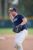 Harry Allegra (61), from Marlboro, New Jersey, while playing for the Padres during the Baseball Factory Pirate City Christmas Camp & Tournament on December 29, 2017 at Pirate City in Bradenton, Florida.  (Mike Janes/Four Seam Images)