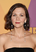 BEVERLY HILLS, CA - JANUARY 07: Actress Maggie Gyllenhaal arrives at HBO's Official Golden Globe Awards After Party at Circa 55 Restaurant in the Beverly Hilton Hotel on January 7, 2018 in Los Angeles, California.