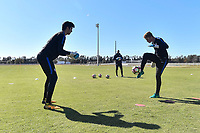 Lakewood Ranch, FL - Sunday Jan. 07, 2018: Justin Garces and Sam Fowler during an U-19 USMNT training session at Premier Sports Campus in Lakewood Ranch, FL.