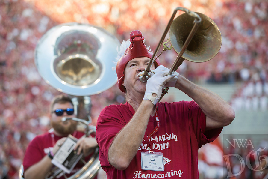 HAWGS ILLUSTRATED JASON IVESTER<br /> Arkansas vs Ole Miss football on Saturday, Oct. 15, 2016, at Donald W. Reynolds Razorback Stadium in Fayetteville.