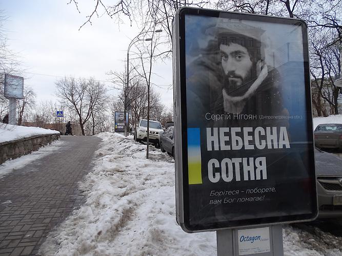 Gedenken an die Toten des Maidan in Kiew