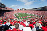 A general view of Camp Randall Stadium during the Wisconsin Badgers NCAA college football game against the San Jose State Spartans on September 11, 2010 in Madison, Wisconsin. The Badgers beat San Jose State 27-14. (Photo by David Stluka)