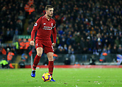 30th January 2019, Anfield, Liverpool, England; EPL Premier League football, Liverpool versus Leicester City; Jordan Henderson of Liverpool looks up for a team mate before passing the ball