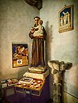 Shrine, church of San Silvestro, Castle of Marciano, 11th century, Castello di Larciano, Tuscano, Italy