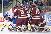 Bobby Robins, Lowell ?, Anthony Aiello, Lowell ?, Mike Brennan, Joe Rooney, Cory Schneider - The University of Massachusetts-Lowell River Hawks defeated the Boston College Eagles 6-3 on Saturday, February 25, 2006, at the Paul E. Tsongas Arena in Lowell, MA.