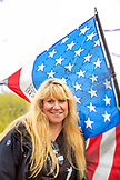 USA, Washington State, Long Beach Peninsula, portrait of kite flyer Amy Doran at the International Kite Festival, mother of Connor Doran who performed on Americas Got Talent and uses his flying to ease the symptoms of his epilepsy