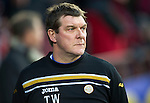 Hearts v St Johnstone...03.12.11   SPL .St Johnstone assistant manager Tommy Wright .Picture by Graeme Hart..Copyright Perthshire Picture Agency.Tel: 01738 623350  Mobile: 07990 594431