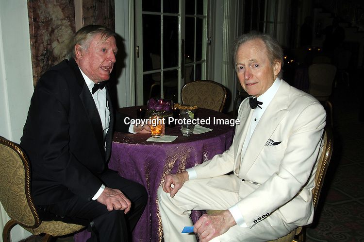 William F Buckley, Jr and Tom Wolfe ..at The Magazine Publishers of America and American Society of Magazine Editors  Awards Dinner on January 25, 2006 at The Waldorf Astoria Hotel. ..Photo by Robin Platzer, Twin Images