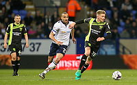 Bury's Taylor Moore gets away from Bolton Wanderers' Darren Pratley<br /> <br /> Photographer Alex Dodd/CameraSport<br /> <br /> The EFL Sky Bet League One - Bolton Wanderers v Bury - Tuesday 18th April 2017 - Macron Stadium - Bolton<br /> <br /> World Copyright &copy; 2017 CameraSport. All rights reserved. 43 Linden Ave. Countesthorpe. Leicester. England. LE8 5PG - Tel: +44 (0) 116 277 4147 - admin@camerasport.com - www.camerasport.com
