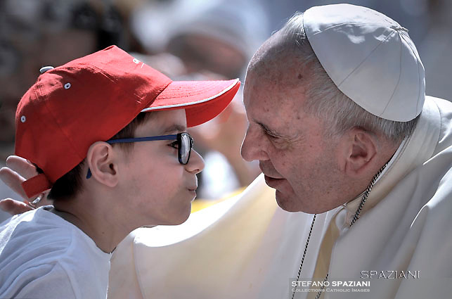 Pope Francis   during of a weekly general audience at St Peter's square in Vatican. on June 8, 2016
