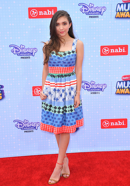 WWW.ACEPIXS.COM<br /> <br /> April 25 2015, LA<br /> <br /> Rowan Blanchard arriving at the 2015 Radio Disney Music Awards at Nokia Theatre L.A. Live on April 25, 2015 in Los Angeles, California.<br /> <br /> By Line: Peter West/ACE Pictures<br /> <br /> <br /> ACE Pictures, Inc.<br /> tel: 646 769 0430<br /> Email: info@acepixs.com<br /> www.acepixs.com