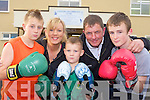 Castleisland Boxing club members l-r: Jason Keane, Jennifer Coffey, Jordan Coffey, John O'Connell and Denis McAulliffe who are looking for boxing enthusiasts to come to their registration night in Castleisland Community Centre next Monday evening