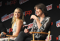 "NEW YORK, NY - OCTOBER 07:  Ali Larter and Mila Jovovich attends  ""Resident Evil: The Final Chapter"" panel at New York ComiCcon at the Theater in Madison Square Garden on October 7, 2016. Photo by: John Palmer/ MediaPunch"