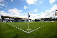 A general view of Westorn Homes Community Stadium home of Colchester United<br /> <br /> Photographer Hannah Fountain/CameraSport<br /> <br /> The EFL Sky Bet League Two - Colchester United v Stevenage Borough - Saturday August 12th 2017 - Colchester Community Stadium - Colchester<br /> <br /> World Copyright &copy; 2017 CameraSport. All rights reserved. 43 Linden Ave. Countesthorpe. Leicester. England. LE8 5PG - Tel: +44 (0) 116 277 4147 - admin@camerasport.com - www.camerasport.com