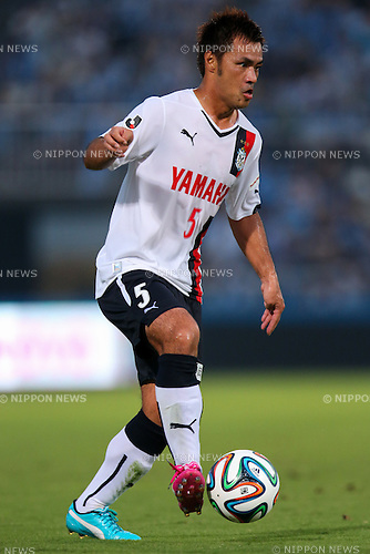 Yuichi Komano (Jubilo), <br /> JULY 26, 2014 - Football /Soccer : <br /> 2014 J.LEAGUE Division 2 <br /> between Yokohama FC 4-0 Jubilo Iwata <br /> at NHK Spring Mitsuzawa Football Stadium, Kanagawa, Japan. <br /> (Photo by AFLO SPORT) [1205]