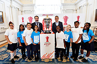 """Picture by Simon Wilkinson/SWpix.com - 19/06/2018 - Rugby League World Cup 2021 """"Inspired By"""" Launch Event, The Mansion House, City of London<br /> Mark Devlin and Kevin Sinfield<br /> -"""