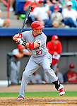 7 March 2012: St. Louis Cardinal infielder Tyler Greene in action against the Washington Nationals at Space Coast Stadium in Viera, Florida. The teams battled to a 3-3 tie in Grapefruit League Spring Training action. Mandatory Credit: Ed Wolfstein Photo