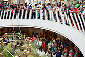Protesters and spectators flood the rotunda during the ninth Moral Monday protest at the North Carolina State Legislature in Raleigh July 1, 2013