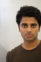 "Naveen Selvadurai, co-founder of social media website Foursquare, poses for the photographer in their shared office in New York, USA, 5 August 2009. Foursquare, which allows users to stay connected to friends and explore a city, has been dubbed ""the next Twitter"" by an influential tech blog."