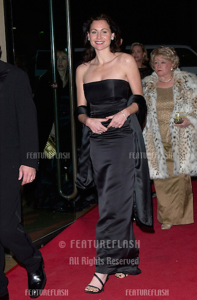 Actress MINNIE DRIVER at the American Film Institute gala, in Beverly Hills, where Barbra Streisand was honored with the Institute's 29th Annual Life Achievement Award..22FEB2001   © Paul Smith/Featureflash