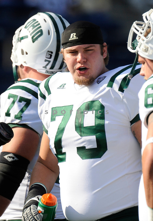 AJ STRUM, of the Ohio Bobcats, in action, during Ohio'c game against the Akron Zips on October 22, 2011 at InfoCision Stadium-Summa Field in Akron, OH. Ohio beat Akron 37-20.