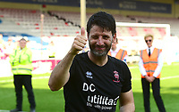 Lincoln City manager Danny Cowley applauds the fans at the final whistle after securing the League 2 Title<br /> <br /> Photographer Andrew Vaughan/CameraSport<br /> <br /> The EFL Sky Bet League Two - Lincoln City v Tranmere Rovers - Monday 22nd April 2019 - Sincil Bank - Lincoln<br /> <br /> World Copyright © 2019 CameraSport. All rights reserved. 43 Linden Ave. Countesthorpe. Leicester. England. LE8 5PG - Tel: +44 (0) 116 277 4147 - admin@camerasport.com - www.camerasport.com