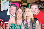 HAPPY: Bringing in the new year on New Year's Eve in Brosnan's Bar, Moyvane, were l-r: Jonathan Keane, Leona Cox and Lisa Boland and Stephen Gormley.   Copyright Kerry's Eye 2008