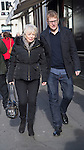 """Pic shows: Alison Steadman<br /> <br /> Funeral of Roger Lloyd-Pack - """"Trigger"""" from Only Fools and Horses.<br /> <br /> Mourners arriving at the service at Actors Church in Covent Garden -<br /> <br /> <br /> <br /> <br /> Pic by Gavin Rodgers/Pixel 8000 Ltd"""