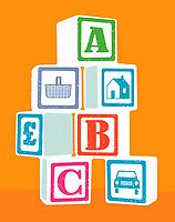 A,B,C and household expenses building blocks