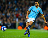 Manchester City's Riyad Mahrez<br /> <br /> Photographer Alex Dodd/CameraSport<br /> <br /> UEFA Champions League Group F - Manchester City v Shakhtar Donetsk - Wednesday 7th November 2018 - City of Manchester Stadium - Manchester<br />  <br /> World Copyright &copy; 2018 CameraSport. All rights reserved. 43 Linden Ave. Countesthorpe. Leicester. England. LE8 5PG - Tel: +44 (0) 116 277 4147 - admin@camerasport.com - www.camerasport.com